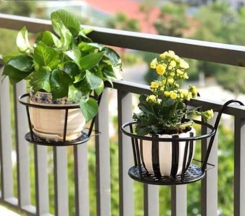 Mẫu kệ sắt trồng cây đơn tại các căn hộ chung cư, ban công tại gia đình